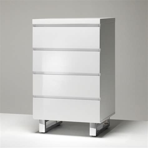 White Gloss Chest Of Drawers by Sydney Chest Of Drawers In High Gloss White With 4 Drawers