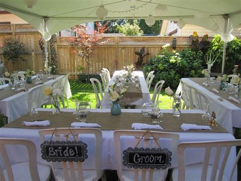 Backyard Wedding Costs by 25 Best Ideas About Small Backyard Weddings On