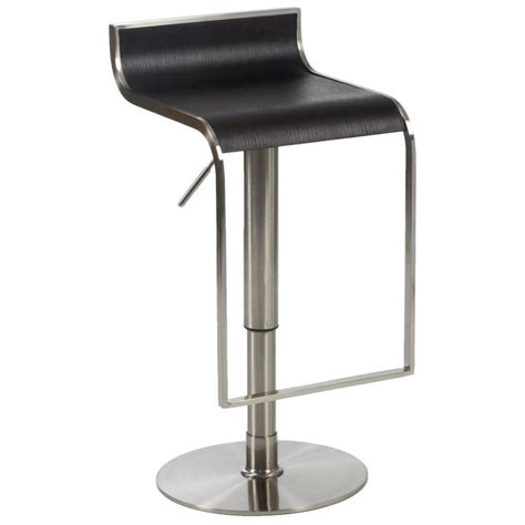 Reclining Bar Stool by Forest Adjustable Bar Counter Stool Wenge Satin Nickel