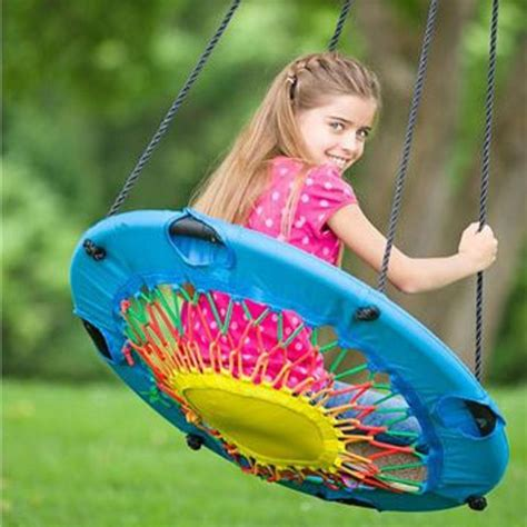 bungee chair swing details about modern tree swing bungee cord chair round
