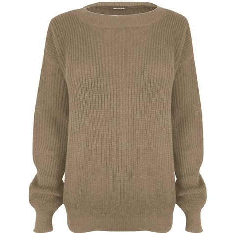 chunky knit jumper womens sleeve chunky knitted oversized baggy womens