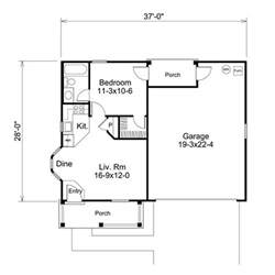 1 bedroom garage apartment floor plans adu samples