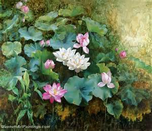 Magnolia Flower Paintings - flower oil painting 21