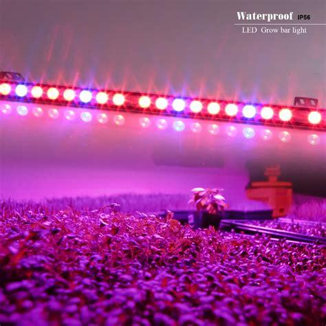 Pink Led Light Bar Aliexpress Buy 10pcs Lot 54w Waterproof Led Bar Grow Light Blue Indoor Plant L Veg