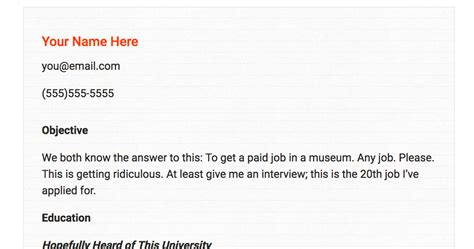Cover Letter For Museum by An Honest Museum Resume Museum Hack