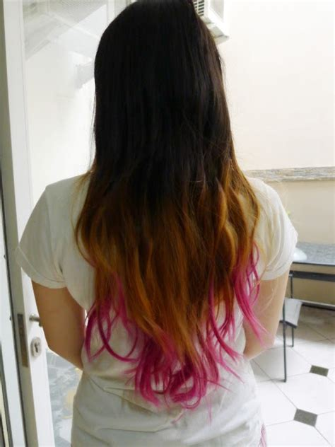 tutorial ombre rambut tanpa bleaching hair pink ombre hair using miranda hair colorant in pink
