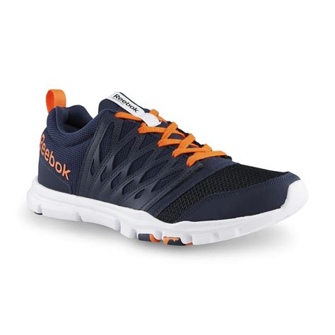 Reebok Memory Foam Biru Navy reebok s yourflex memorytech navy orange cross