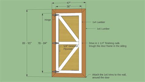 plan layout door barn shed door panel ideas your own set of