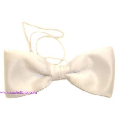 baby boy white bow tie cachet