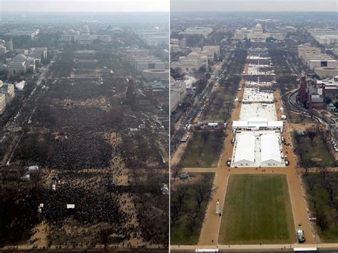 picture of inauguration crowd government photos show obama s inauguration crowd was