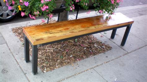 modern metal bench forever interiors benches