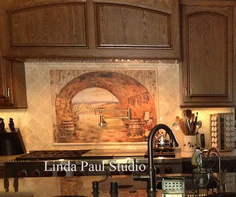 murals for kitchen backsplash tuscan backsplash tile wall murals tiles backsplashes