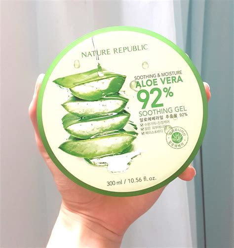 Nature Republic Aloe Vera Soothing Gel Pimples nature republic aloe vera soothing gel 300ml korean