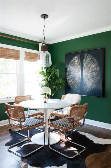 Emerald Green Dining Room How To Incorporate The Forest Bathing Pantone Color