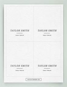 name cards for tables template name card template 16 free sle exle format