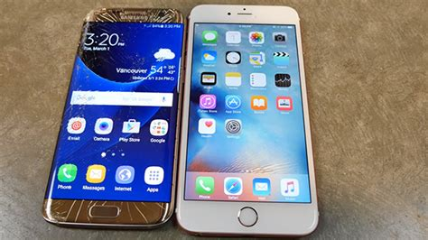 iphone 6s plus vs galaxy s7 edge survival of the drop tests redmond pie