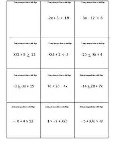 15 best images of two step inequalities worksheets one