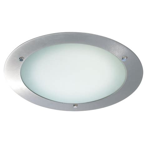 540 34bs Bathroom Flush Ceiling Light Ip44 Brushed Ceiling Light In