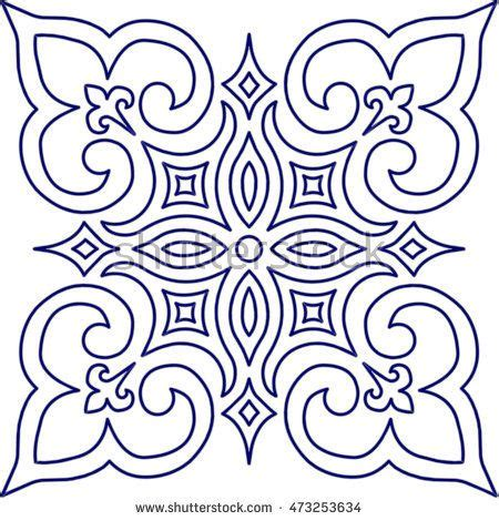 blue arabesque islamic geometric patterns inside an old 1745 best stencils printables images on pinterest