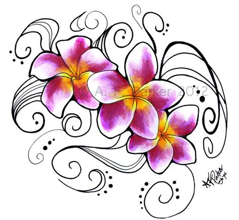 plumeria flower tattoo designs 25 best ideas about plumeria on