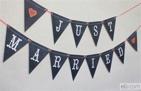 chalkboard banner printable with this ring wedding blog