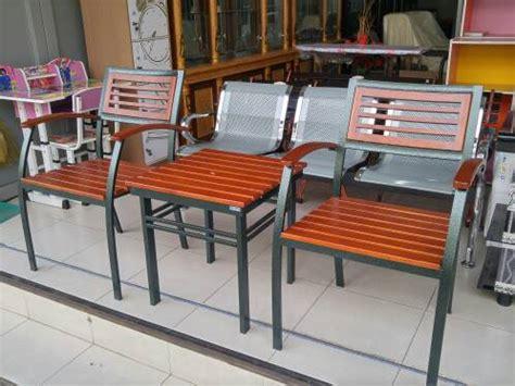 Jual Kursi Teras Rangka kursi kayu rangka besi berbagai macam furnitur kayu