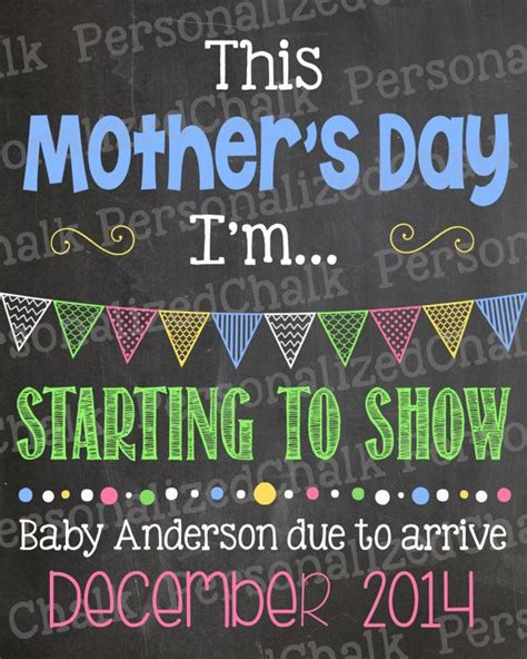 mothers day pregnancy announcement s day pregnancy announcement chalkboard