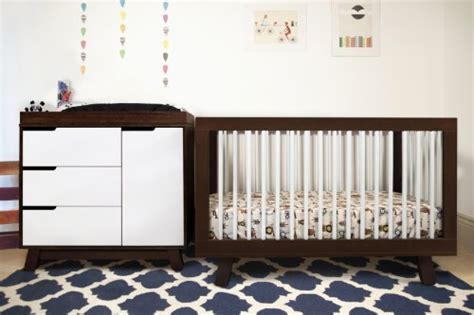 Two Tone Baby Cribs Babyletto Hudson 3 In 1 Convertible Crib With Toddler Rail Two Tone Furniture Baby Furniture