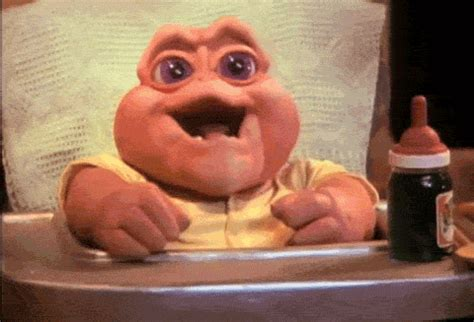 Baby Sinclair Meme - tv gifs find share on giphy