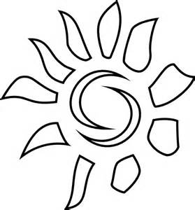 Free Sun Outline by Sun Pattern Outline Clip At Clker Vector Clip