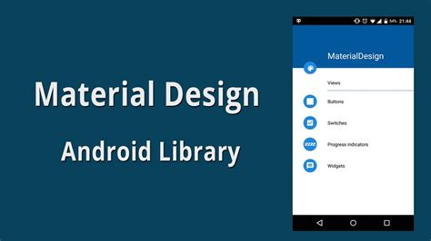 material design layout for android material design android library exle source code