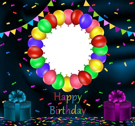 blue happy birthday transparent png frame gallery
