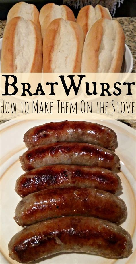 bratwurst how to cook bratwurst recipe cooking brats over the stove thrifty