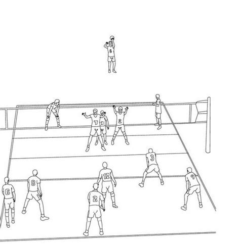 coloring pages of volleyball players volleyball coloring pages