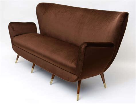 wing back sofas luxurious italian mid century wing back sofa at 1stdibs