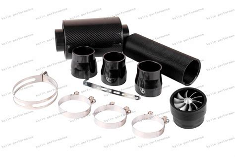 induction kit with fan universal cold feed induction kit carbon fibre air intake filter box with fan ebay