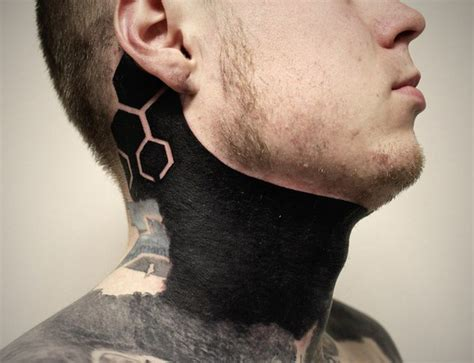 neck cover up tattoos blackwork cover up on neck best ideas gallery
