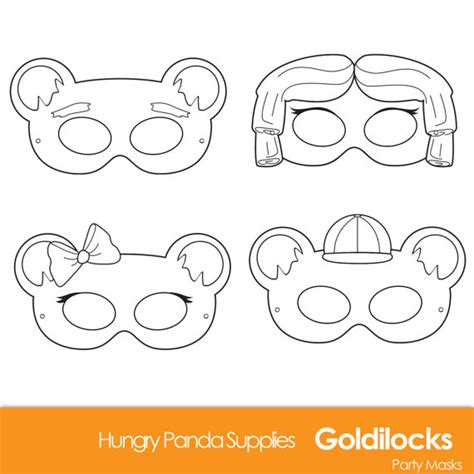 printable masks for goldilocks and the three bears goldilocks and the three bears printable masks goldilocks
