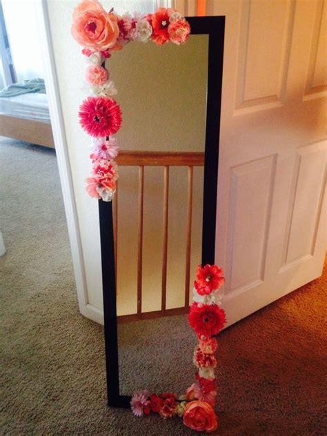 decorar espejos con flores ideas para decorar tu cuarto con flores room ideas para