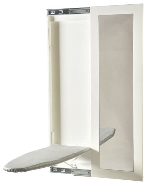 mirror ironing board wall mount ironing board with mirror white transitional