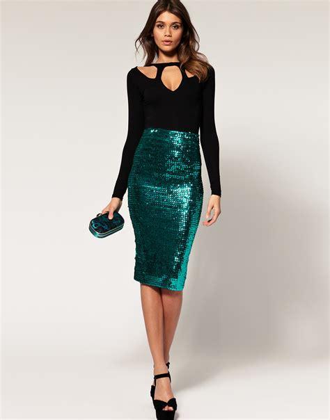 glitter skirt dressed up