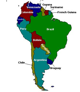 map of south american countries usgs minerals information south america