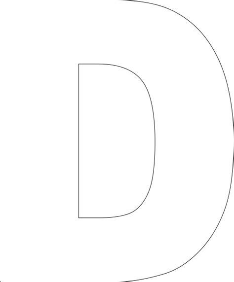 printable large letter d 6 best images of large printable letter d printable
