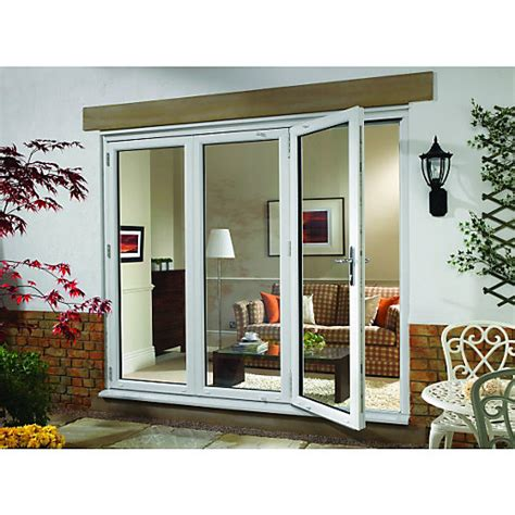 wickes upvc external folding sliding patio door white