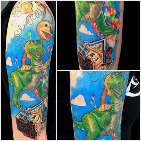 pixar tattoo disney pixar sleeve up story