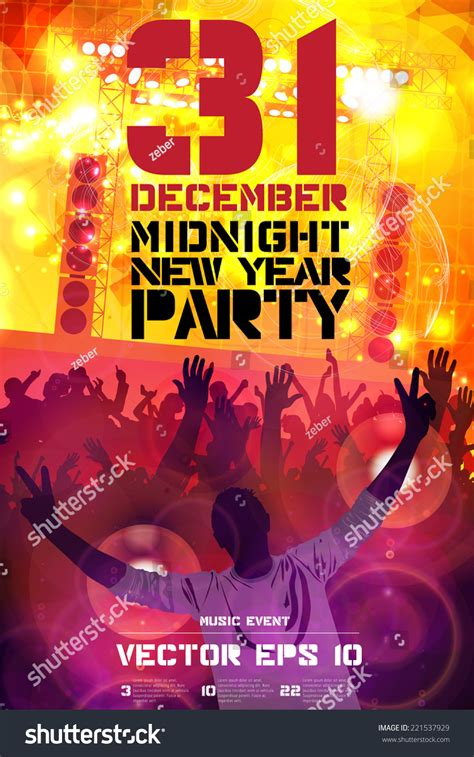 poster for new year 2015 2015 new year poster vector stock vector 221537929