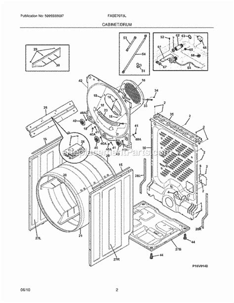 frigidaire dryer parts diagram frigidaire fase7073lw0 parts list and diagram