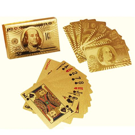 Does Aliexpress Have Gift Cards - 24k carat gold foil playing cards plated poker game