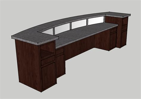 Information Desk Furniture by 12 Foot Frosted Plex Church Welcome Center Envisionary