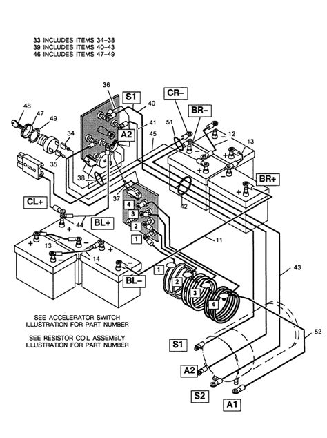 ezgo wiring diagram electric golf cart wiring diagram
